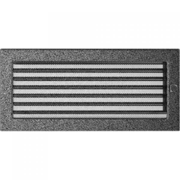 Вентиляционная решетка Черная/Серебро с задвижкой (17*37) 37CSX