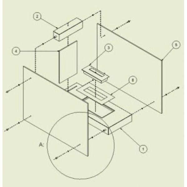 Биокамин LINATE/W (Kratki)