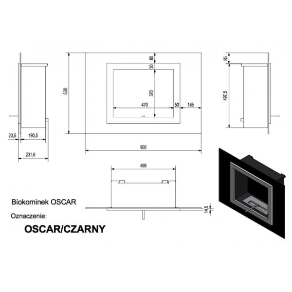 Биокамин OSCAR черный