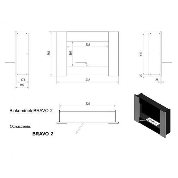 Биокамин BRAVO 2 (Kratki)