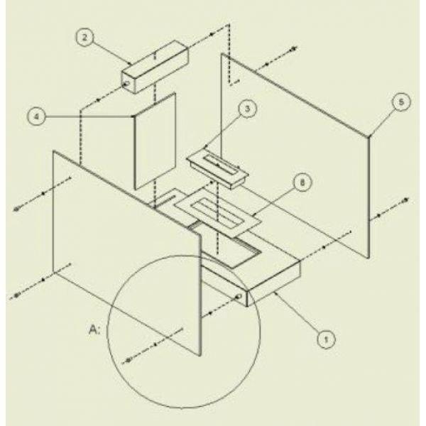 Биокамин LINATE/W, TUV (Kratki)