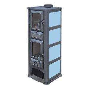 Печь-Камин Lederata Plus синяя