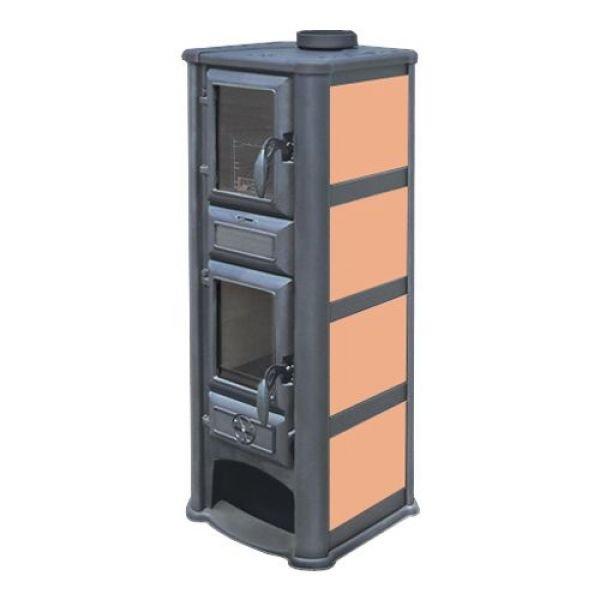 Печь-Камин Lederata Plus оранжевая