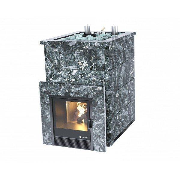 Банная печь ИзиСтим Домна 45 К в камне Пироксенит