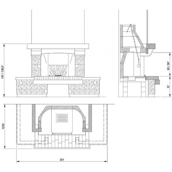 Облицовка Courmayeur fulli-fitted 116 (Palazzetti)