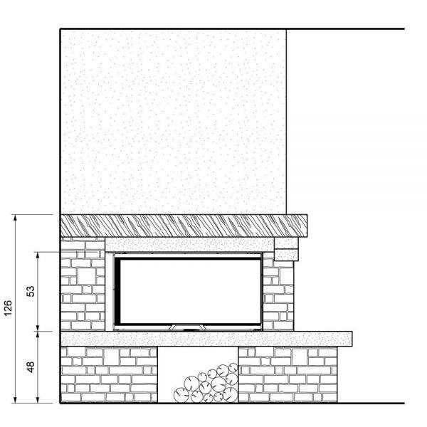 Облицовка VALCOMELICO sx, без духовки, под SF 100 sx (Palazzetti)