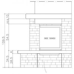 Облицовка TOPAZIO dx, с банкетой, под Side 50x50 (EdilKamin)