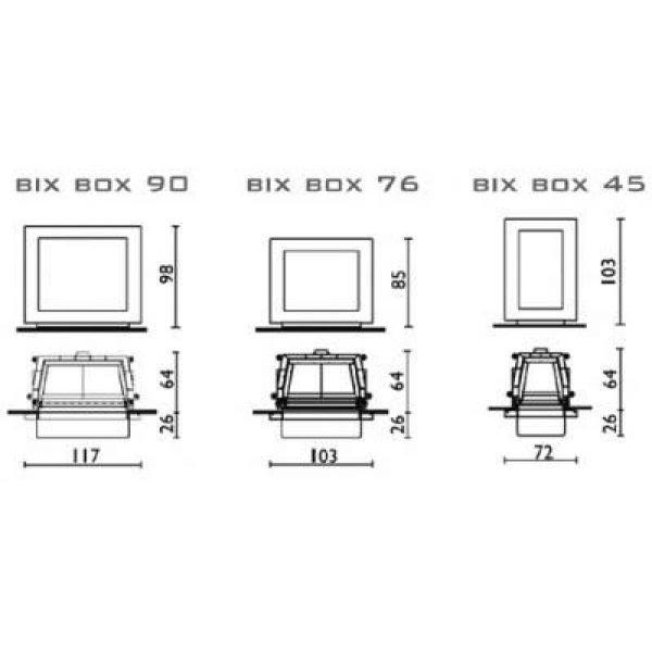 Облицовка Bix Box corten + топка Cristal 76 (EdilKamin)