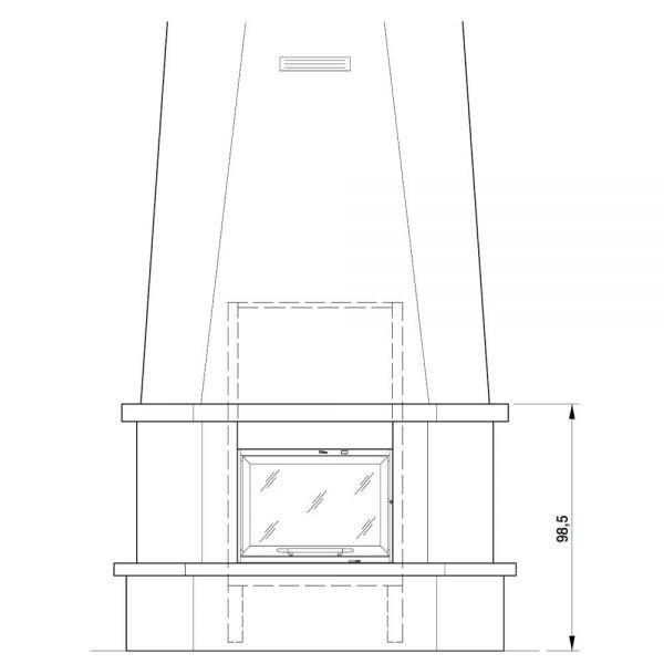 Облицовка Andria, угловая (Palazzetti)