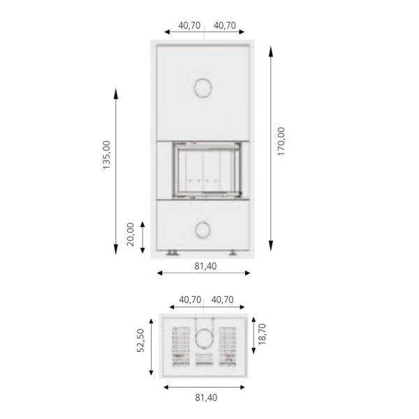 Камин ARCHI CERAM BI-VISION 520 (RLD)