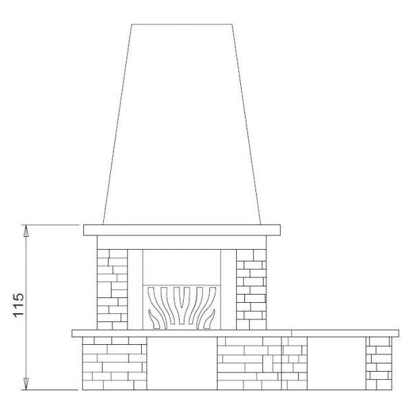 Облицовка Cordoba, с банкетой, под Mbl 78 front (Palazzetti)