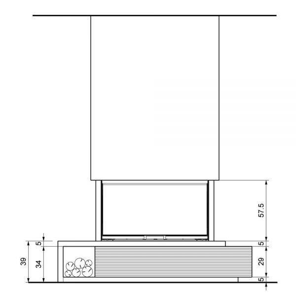 Облицовка KENT sx, под SF 100 3D (Palazzetti)