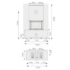 Камин ARCHI CERAM TRI-VISION 500, la boheme (RLD)