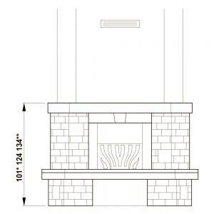 Облицовка Valcamonica corner (Palazzetti)