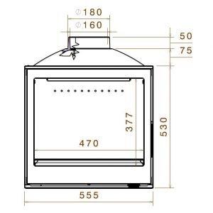 LCI 5 GFLR, два боковых стекла (Liseo Castiron)