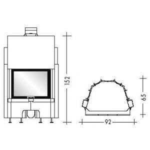 AIRFIRE, плоское стекло (EdilKamin)
