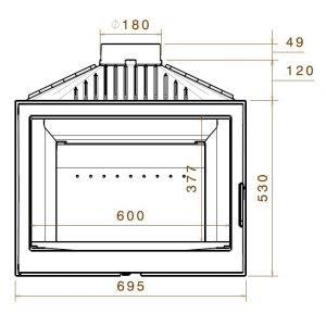 LCI 007 GFLR, два боковых стекла (Liseo Castiron)
