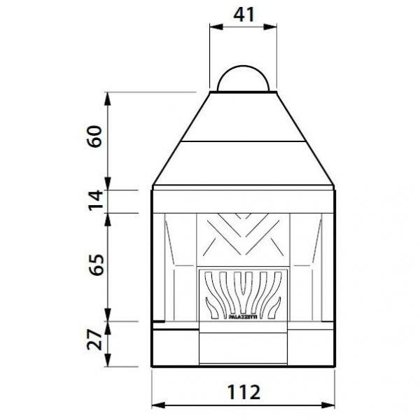 Каминная топка VENTILPALEX VPX 96 (Palazzetti)