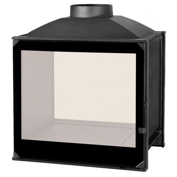Каминная топка LCI 5 GDF BG, двусторонняя, черное стекло (Liseo Castiron)