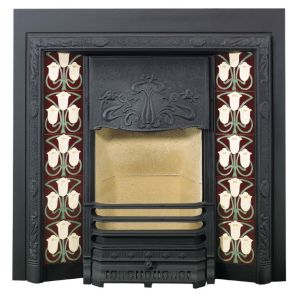 Stovax Art Nouveau Tiled Fireplace