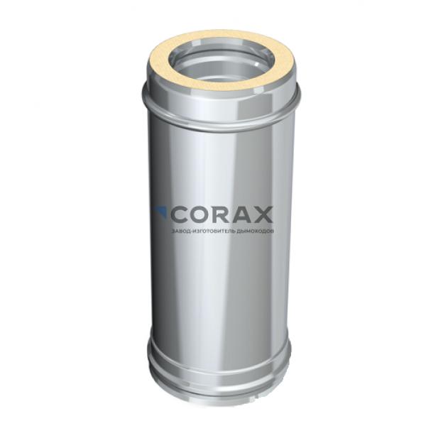 Сэндвич-дымоход Ø115(430/0,5)*200(430/0,5) L 500 мм (Corax)