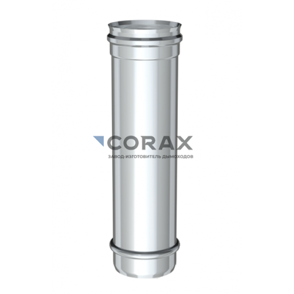 Дымоход Ø200 (304/0,8) L 500 мм (Corax)
