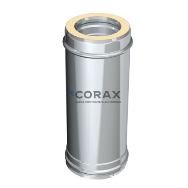 Сэндвич-дымоход Ø150(430/0,8)*210(430/0,5) L 500 мм (Corax)