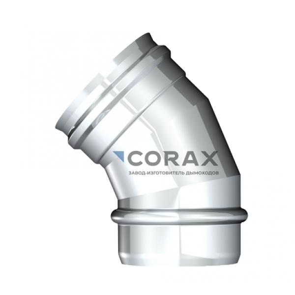 Отвод 135° для дымохода Ø150 (430/0,8) (Corax)