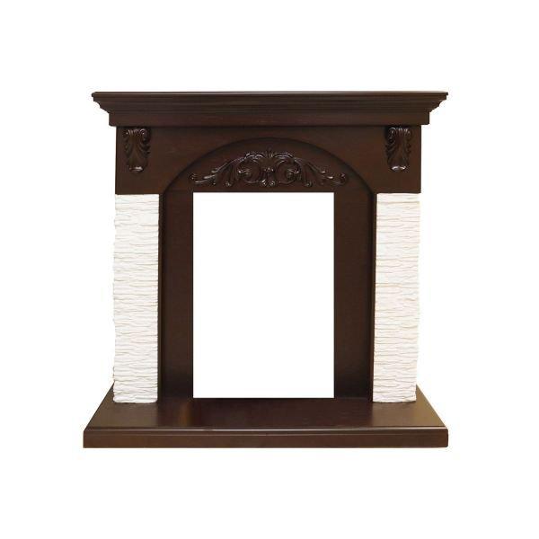 Портал  Bern Сланец мелкий белый / Темный дуб
