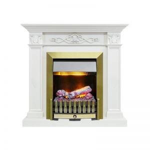 Verona - Белый дуб с очагом Danville Antique Brass FB2