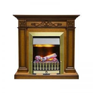 Электрокамин  Verona - Дуб антик с очагом Danville Antique Brass FB2