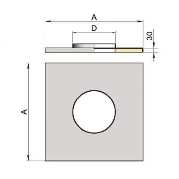 Фланец FHO D104 680/680 с изол.50мм, нерж (Вулкан)