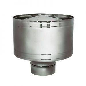Дефлектор D180 без изоляции, матовый (Вулкан)