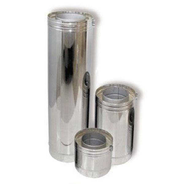 Труба DTH 500 двуст. с изол.100мм, D130, нерж321/нерж304 (Вулкан)