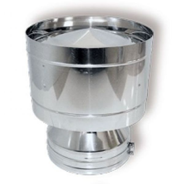 Дефлектор DDH на трубу D250 с изол.50мм, нерж321/нерж321 (Вулкан)