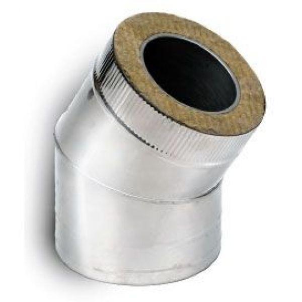 Отвод 30° DOTH D250 с изол.50мм, нерж321/оцинк (Вулкан)