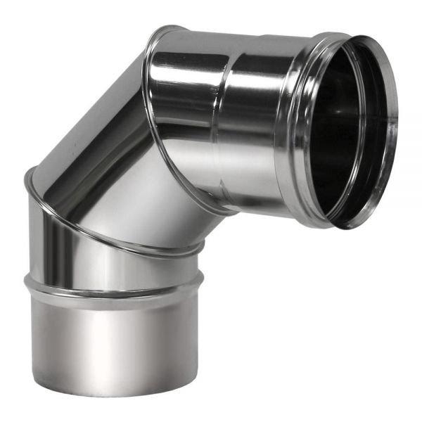 Отвод 90° D115 без изоляции, зеркальный (Вулкан)