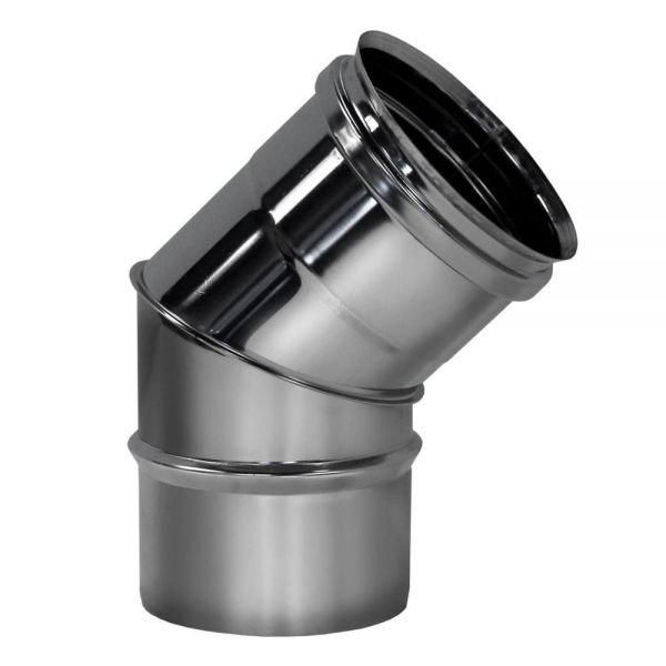 Отвод 45° D250 без изоляции, матовый (Вулкан)