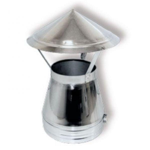 Зонт DAH на трубу D250 с изол.50мм, нерж321/нерж321 (Вулкан)