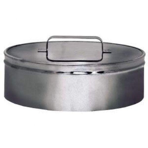 Ревизия (крышка) DRH на трубу D130 с изол.50мм, нерж321/нерж304 (Вулкан)