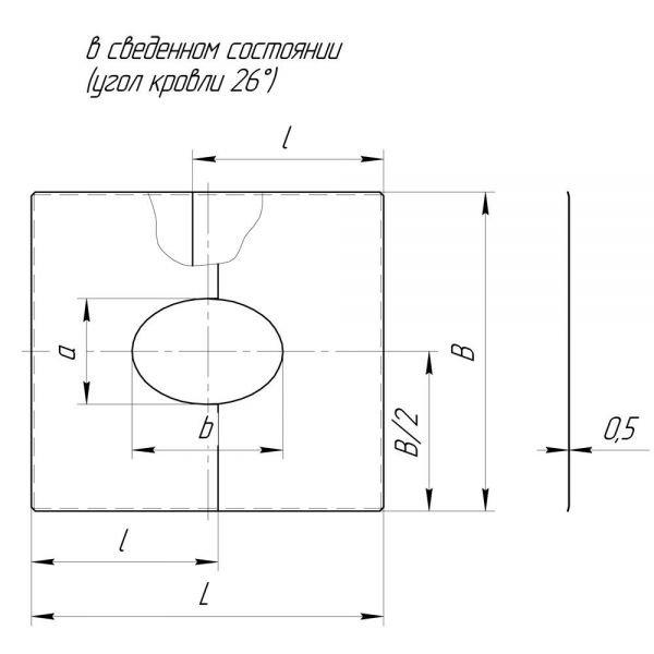Фланец без изоляции V50R разрезной 21/32º D120/220 (Вулкан)