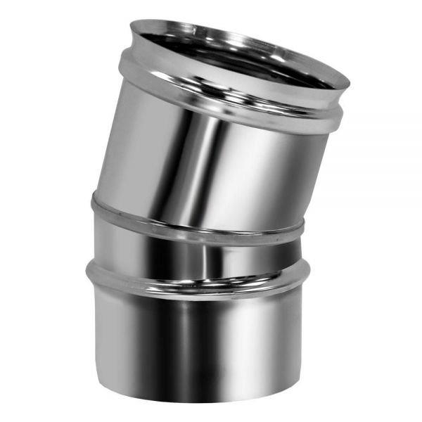 Отвод 15° D130 без изоляции, зеркальный (Вулкан)