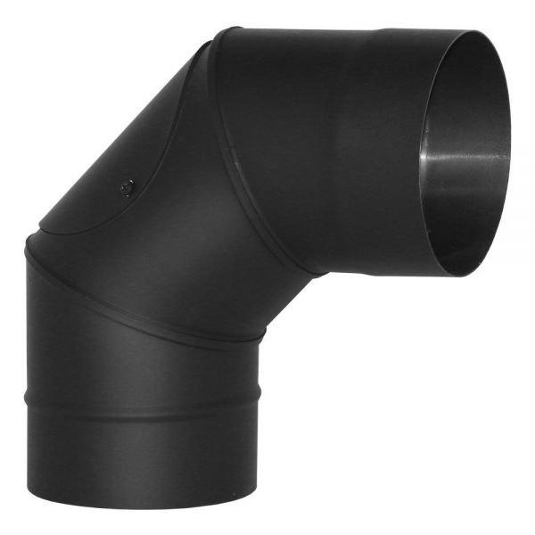 Отвод VBR 90º D130 с ревизией, нерж., черный (Вулкан)