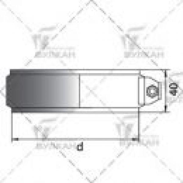 Хомут соединительный на трубу D130 без изоляции, зеркальный (Вулкан)