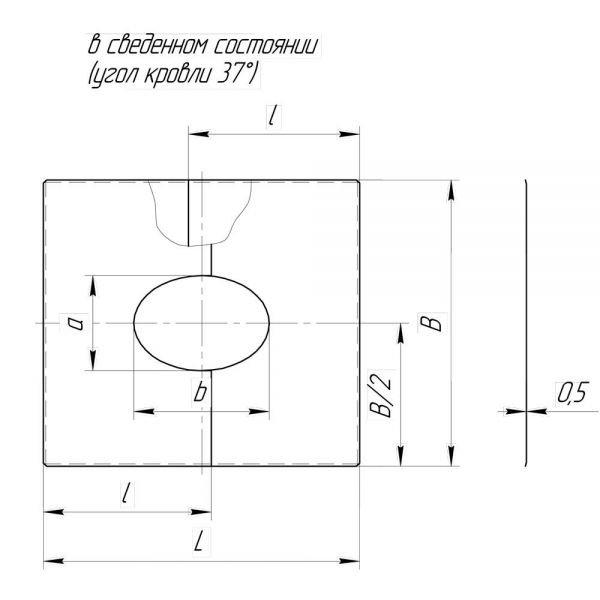 Фланец без изоляции V50R разрезной 33/45º D180/280 (Вулкан)