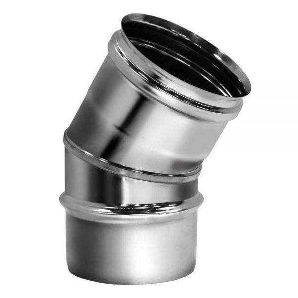 Отвод 30° D130 без изоляции, зеркальный (Вулкан)