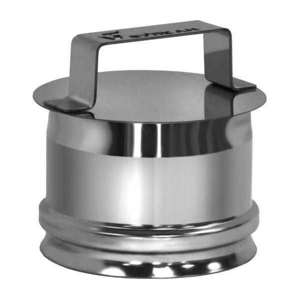 Ревизия на трубу D150 без изоляции, зеркальная (Вулкан)