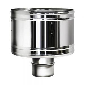 Дефлектор D150 без изоляции, зеркальный (Вулкан)