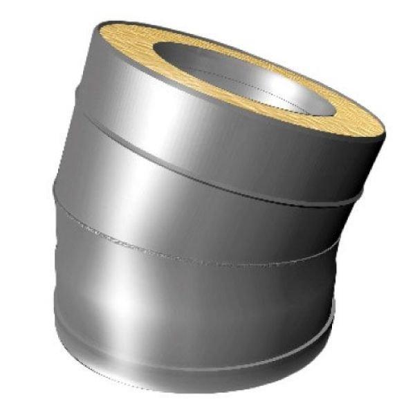 Отвод 15° V50R D150/250, нерж 321/304 (Вулкан)