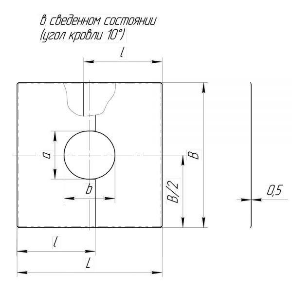Фланец без изоляции V50R разрезной 0/20º D160/260 (Вулкан)